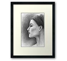 Womans Profile Framed Print