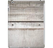 Board Marked Concrete - Denys Lasdun iPad Case/Skin