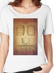 J.c.roth Beer Keg Patent From 1898 Women's Relaxed Fit T-Shirt