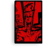 Zombie Christ (In Red) Canvas Print