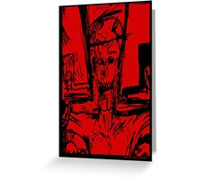 Zombie Christ (In Red) Greeting Card
