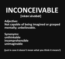 Just in case it doesn't mean what you think it means! by BYRON