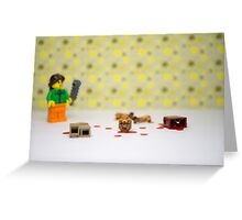 The zombie apocalypse in your front room Greeting Card