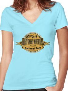 Great Smoky Mountains National Park, Tennessee Women's Fitted V-Neck T-Shirt