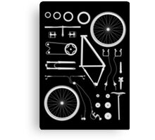 Bike Exploded Canvas Print