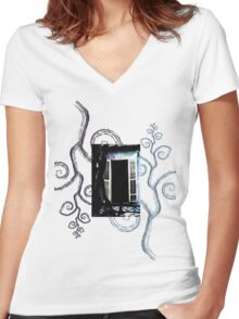 Enchanted Window no.3 Women's Fitted V-Neck T-Shirt