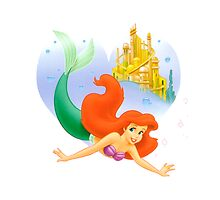 Ariel the little mermaid by zazerkale