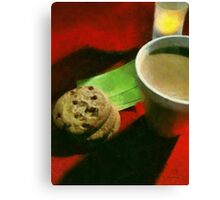 Coffee and Cookies at the Café Canvas Print