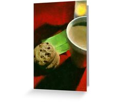 Coffee and Cookies at the Café Greeting Card