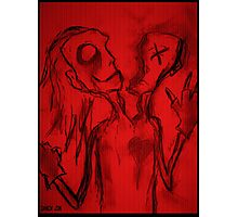 Personality Split Oddity (In Red) Photographic Print