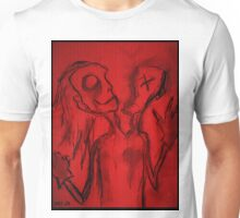 Personality Split Oddity (In Red) Unisex T-Shirt