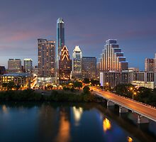 Austin Skyline Images - Congress Bridge and Downtown Austin by RobGreebonPhoto