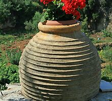 Agios Nikolaos Flower Pot by DRWilliams