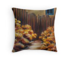 Mrs Becker's Fence Throw Pillow