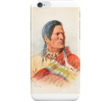 CHARLES M. RUSSELL (1864-1926) Indian Portrait (1901) iPhone Case/Skin
