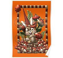 Happy Halloween Rabbit Poster