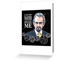 The Master (Roger Delgado) Greeting Card