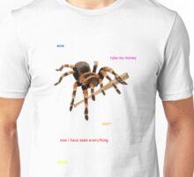 A spider with a baseball bat Unisex T-Shirt