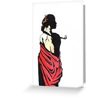 The lady in red Greeting Card