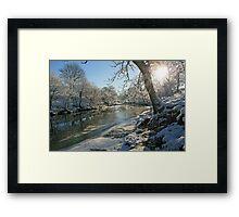 A Frozen River Kent Framed Print