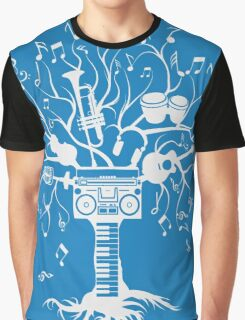 Melody Tree - Light Silhouette Graphic T-Shirt