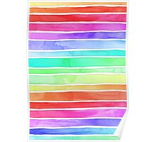 Ever So Bright Rainbow Stripes Poster