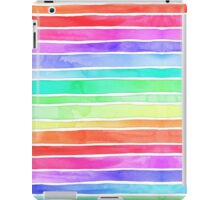 Ever So Bright Rainbow Stripes iPad Case/Skin