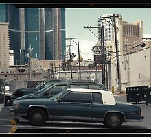 Vintage cars of the 1970s in Las Vegas, Kodachrome by Reinvention