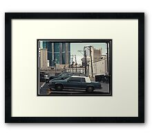 Vintage cars of the 1970s in Las Vegas, Kodachrome Framed Print