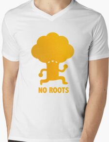NO ROOTS Mens V-Neck T-Shirt