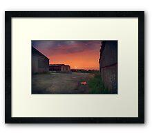 Farmyard Sunset Framed Print