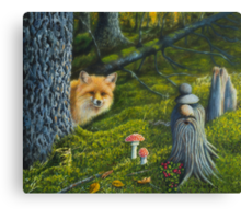 The spirit of the forest Canvas Print