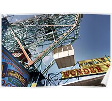 Ferris Wheel at Coney Island Poster