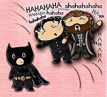 Guy of Gisborne and Thorin Oakenshield's reaction to Richard Armitage as Batman (for prints) Photographic Print