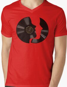 Vinyl Profile Mens V-Neck T-Shirt