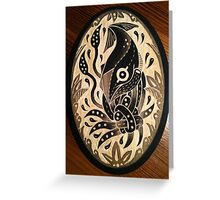 Tangled squid on wood Greeting Card