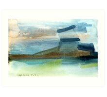Water land Art Print
