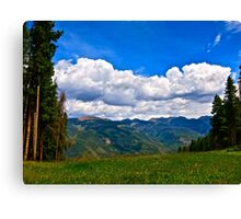 """Hiking Vail Mountain"" Vail, CO Canvas Print"