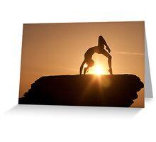 Yoga Poses at Sunset 2 Greeting Card