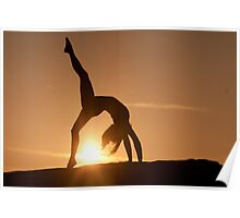 Yoga Poses at Sunset 3 Poster