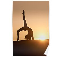 Yoga Poses at Sunset 4 Poster