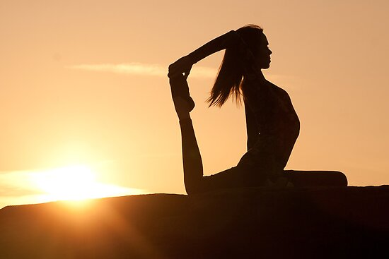 Yoga Poses at Sunset 7 by JonWHowson