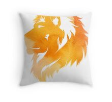 aquarell lion  Throw Pillow