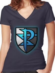 Team Plasma Logo Women's Fitted V-Neck T-Shirt
