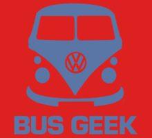 Bus Geek Blue Kids Tee