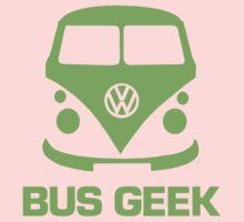 Bus Geek Green Baby Tee