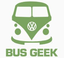 Bus Geek Green Kids Tee