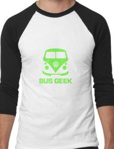 Bus Geek Green Men's Baseball ¾ T-Shirt