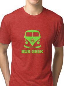Bus Geek Green Tri-blend T-Shirt