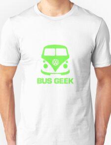 Bus Geek Green Unisex T-Shirt